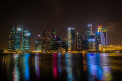Singapore skyline of business district Stock Photography