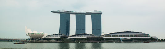 Singapore skyline of business district and Marina Bay Royalty Free Stock Photo