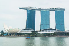 Singapore skyline of business district and Marina Bay Stock Image