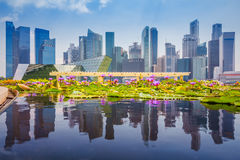 Singapore skyline of business district and Marina Bay in day, fo Stock Photography