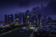 Singapore skyline Royalty Free Stock Photo