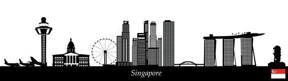 Singapore skyline royalty free illustration