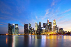 Singapore skyline Stock Images