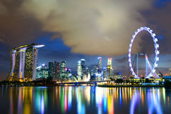 Singapore skyline Stock Photos