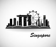 Singapore Skyline. City silhouette. Vector illustration Royalty Free Stock Photos