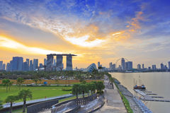 Singapore cityscape when sunset Stock Photography