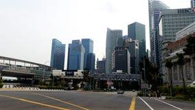 Singapore Skyline City View Stock Photo