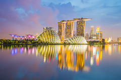 Singapore skyline cityscape at night Royalty Free Stock Images