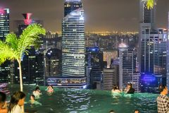 Singapore Skyline and Cityscape at night Royalty Free Stock Image