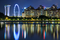 Singapore skyline cityscape at night Stock Images