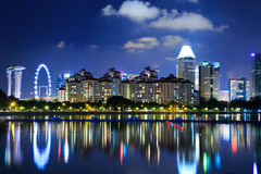 Singapore skyline cityscape at night Stock Photo