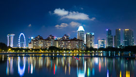 Singapore skyline cityscape at night Royalty Free Stock Photography