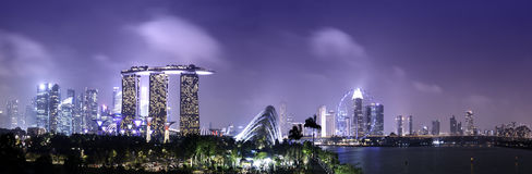Singapore skyline and cityscape Royalty Free Stock Photo