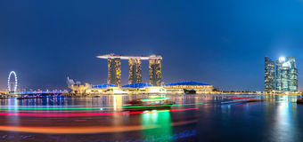 Singapore skyline and cityscape Stock Images
