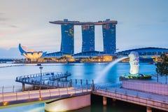 Singapore skyline cityscape at twilight Royalty Free Stock Image