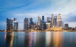Singapore skyline cityscape at twilight at Marina Bay.  Stock Image