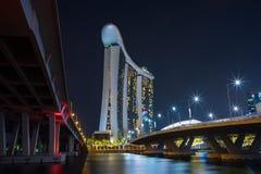 Singapore skyline cityscape at twilight at Marina Bay.  Royalty Free Stock Photos
