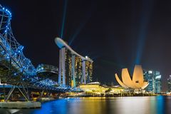 Singapore skyline cityscape at twilight at Marina Bay Royalty Free Stock Image