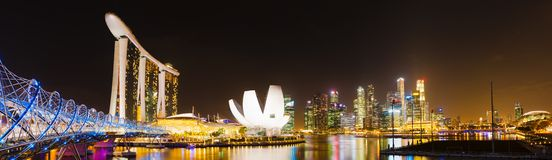 Singapore skyline Stock Photography