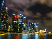 Singapore skyline of Downtown Core in Marina Bay at twilight Royalty Free Stock Photo