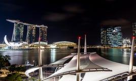 Singapore Skyline at Dusk on the Esplanade Royalty Free Stock Photos