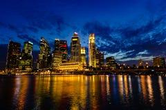 Singapore Skyline at Dusk Royalty Free Stock Photos