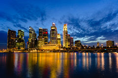 Singapore Skyline at Dusk Royalty Free Stock Photos