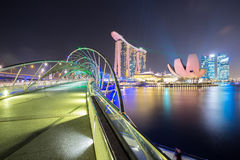 Singapore Skyline dusk Royalty Free Stock Photography