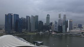 Singapore skyline at dusk stock footage