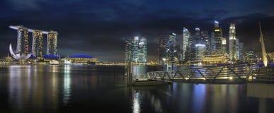 Singapore Skyline by the Esplanade Panorama Royalty Free Stock Photo