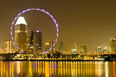 Singapore Skyline in the evening Stock Photos