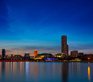 Singapore skyline evening Stock Image