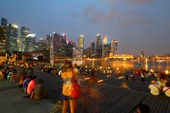 Singapore Skyline in the evening Royalty Free Stock Photography