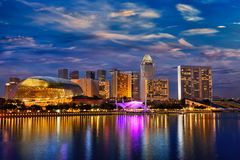 Singapore skyline in the evening Stock Images