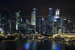 Singapore Skyline, financial centre Stock Photos