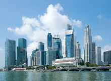 Singapore skyline, financial district Royalty Free Stock Photo
