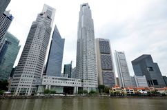 Singapore skyline and financial district Stock Photo