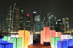 Singapore skyline and lighting Stock Images
