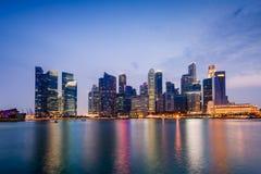Singapore Skyline Stock Image
