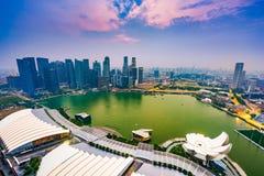 Singapore Skyline Royalty Free Stock Photography