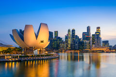 Singapore Skyline. Singapore at the Marina Bay Skyline Stock Photography