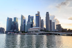 Singapore skyline at Marina bay Stock Photo