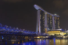 Singapore skyline. The Singapore skyline with the Marina Bay Sands hotel Stock Images