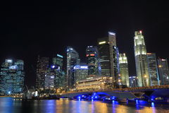 Singapore Skyline and Merlion Royalty Free Stock Photography