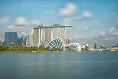 Singapore skyline in moring Royalty Free Stock Photo