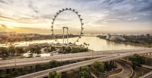 Singapore skyline in morning Royalty Free Stock Image