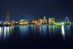 Singapore Skyline at night. Stock Photography
