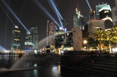 Singapore Skyline at night Royalty Free Stock Photography