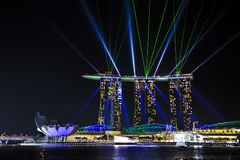 Singapore skyline at night. Singapore city skyline at night Stock Images