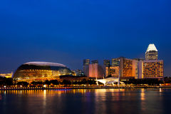 Singapore skyline at night. Stock Image